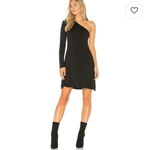 LA Made Dress One Shoulder Asymmetrical Hem Jersey